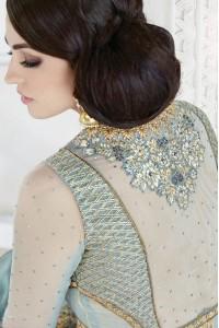 Grey color georgette and net  party wear lehenga kameez