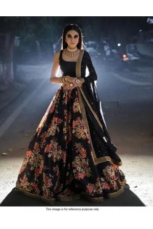 Bollywood sabyasachi inspired black lehenga choli