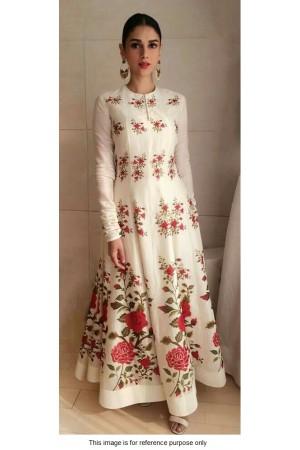 Bollywood Aditi rao Hydari white silk gown