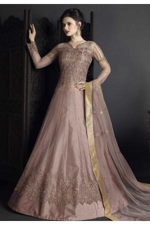Onion pink net wedding ghagra choli style 10007