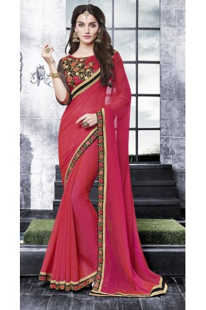 Party-wear-red-black-8-color-saree