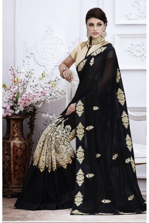 Party-wear-black-beige-10-color-saree