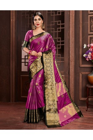 Ashra Rani Pink Cotton Saree