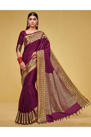 Kanisha Ruby Pink Cotton Saree