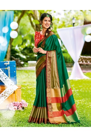 Mudita Tender Green Wedding Wear Saree