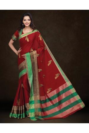 Mysha Malhar Red Designer Saree