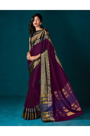 Simoni Wine Magenta Party Wear Saree