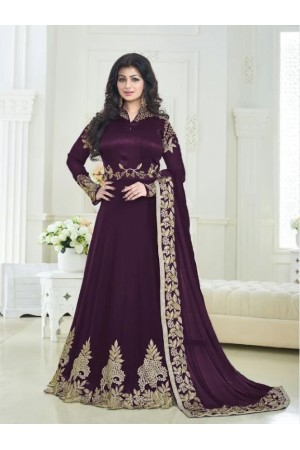 Ayesha takia purple color georgette party wear anarkali suit