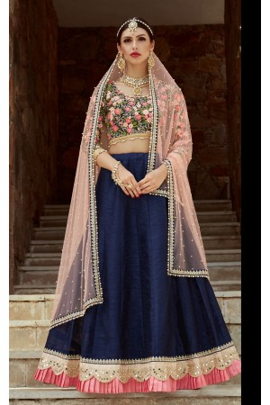 Indian Dress Blue Color Bridal Lehenga 1105