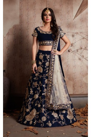 Indian Dress Blue Color Bridal Lehenga 341B