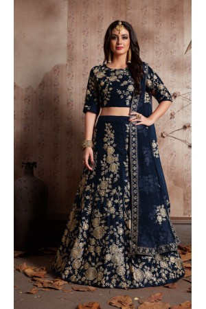 Indian Dress Blue Color Bridal Lehenga 359B