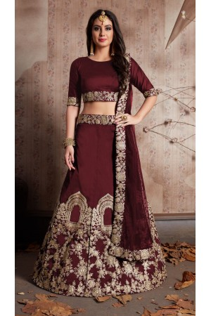 Indian Dress Brown Color Bridal Lehenga 529