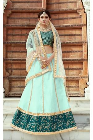 Indian Dress Green Color Bridal Lehenga 1102