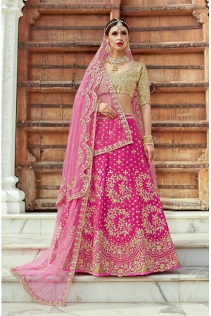 Indian Dress Pink Color Bridal Lehenga 1101
