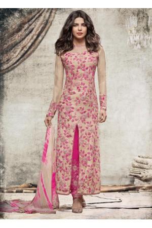 Priyanka Chopra Party wear Suit in Almond color