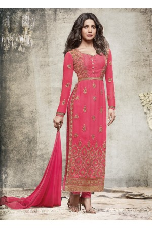Priyanka Chopra Party wear Suit in Pink color