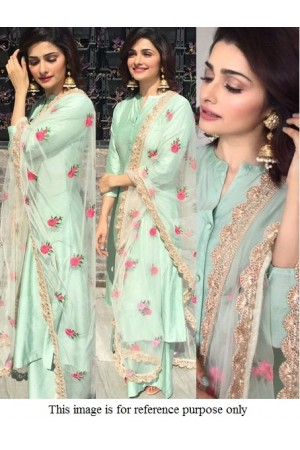 Bollywood Prachi Desai pista green  Kurta set