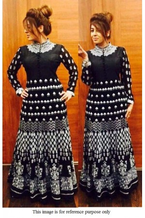 Bollywood model black  georgette anarkali