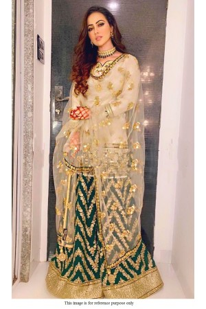 Bollywood SanaKhan Inspired off white sharara set