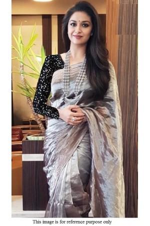 Bollywood Kirti Suresh khadi tisuue silk saree