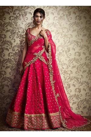 Ethnic Red Cotton Designer Lehenga Choli