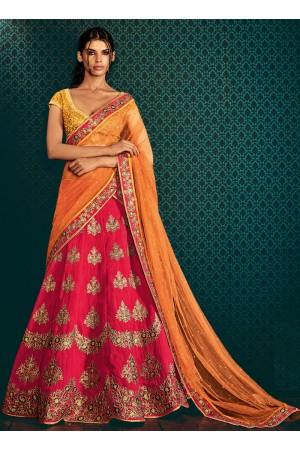 Cute Red Cotton Designer Lehenga Choli