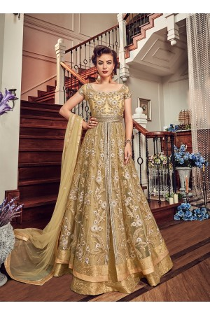 Cream color georgette party wear Lehenga kameez 5802