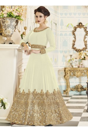 Off White georgette party wear anarkali 001H