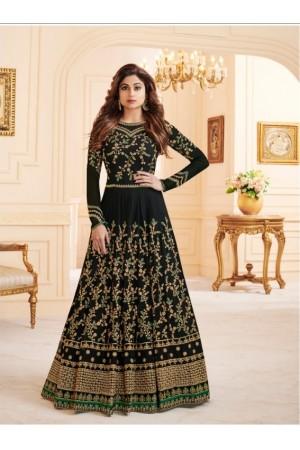Shamita Shetty georgette party wear anarkali 8029