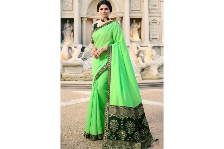 d346e1c6991df6 prachi desai light green milano silk saree with blouse 20765