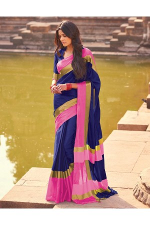 Aangi Midnight Blue Festive Wear Saree