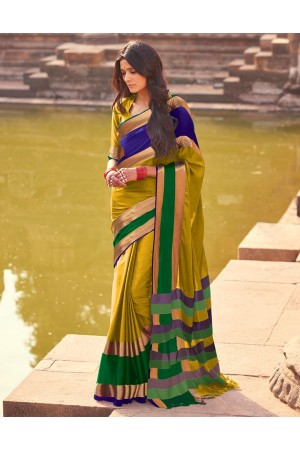 Aangi Plus Gold Cotton Wear Sarees