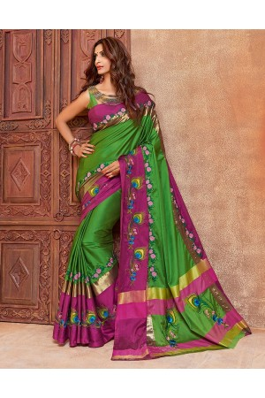 Aangi mayura Designer Wear Cotton Saree