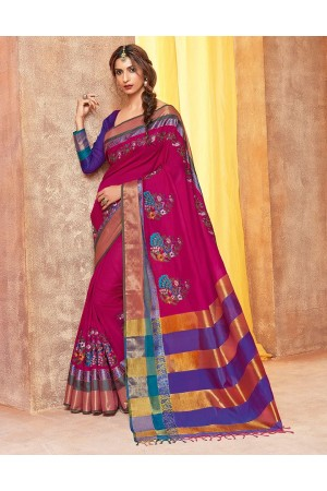 Akula Designer Wear Cotton Saree