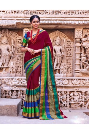 Amani Wedding Wear Cotton Saree