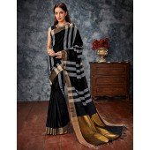 Anusha Black Cotton Saree