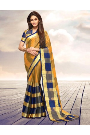 Areesa Canary Party Wear Cotton Saree