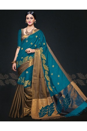 Aryaa August Peacock Designer Wear Cotton Sarees