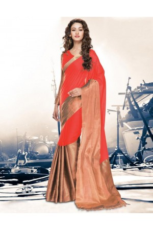 Aryaa Coral Party Wear Cotton Sarees