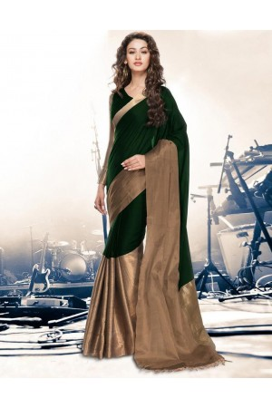 Aryaa Emerald Party Wear Cotton Saree