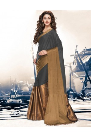 AryaaAsh Party Wear Cotton Saree