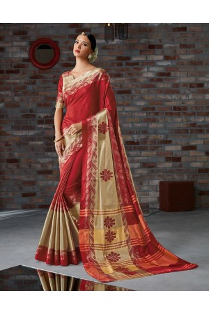 Ashmika Festive Wear Cotton Saree