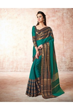 Caris marine blue Cotton Sarees