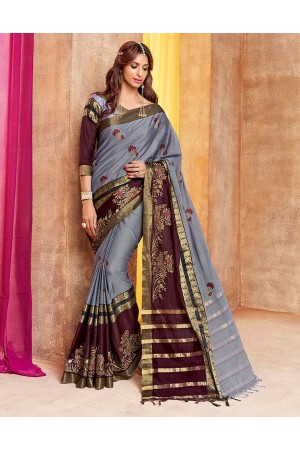 Charita Designer Wear Cotton Saree