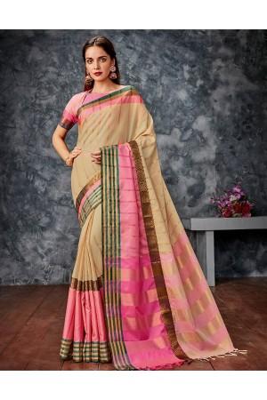 Gautami Pink Cotton Saree