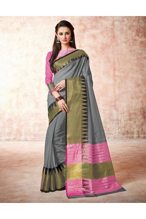 Gia cinder grey Cotton Sarees