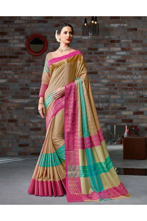 Hayal Festive Wear Cotton Saree