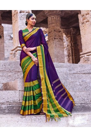Jasnam Wedding Wear Cotton Saree
