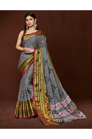 Kanisa Designer Wear Cotton Saree