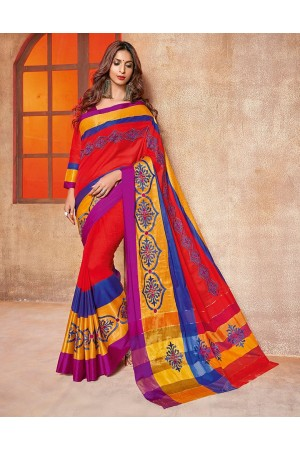 Kundal Designer Wear Cotton Saree